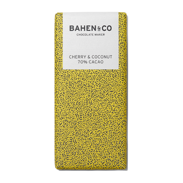 Bahen and Co Chocolate Maker Cherry and Coconut 70% Cacao 75g