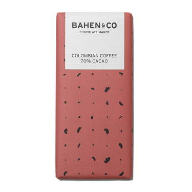 Bahen and Co Chocolate Maker Columbian Coffee 70% Cacao 75g