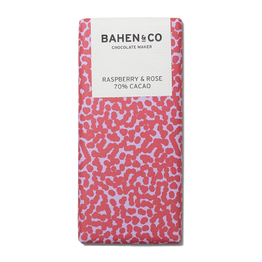 Bahen and Co Chocolate Maker Raspberry & Rose 70% Cacao 75g