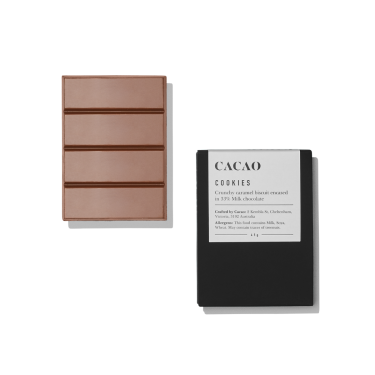 Cacao Cookies Crunchy Caramel Biscuit in Milk Chocolate 45g