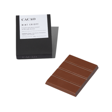 Cacao Mint Crispy Milk Chocolate Bar 50g