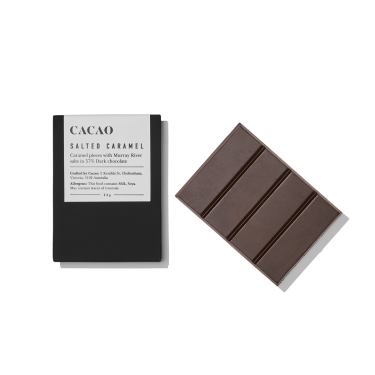 Cacao Salted Caramel Dark Chocolate 50g