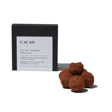 Cacao Salted Caramel Truffles Box of 6