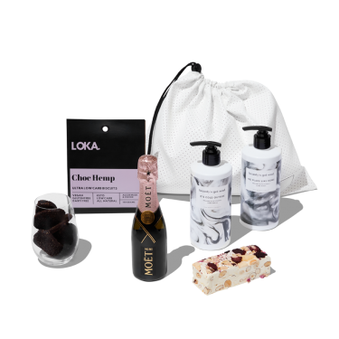 Mini Moet Pamper Hamper by beauty's got soul.