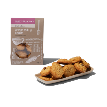 Mother Megs Gluten Free Orange and Fig Biscuits 150g