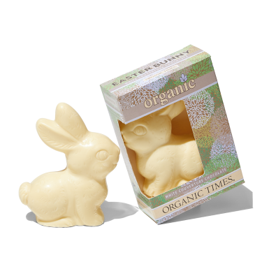 Organic Times White Chocolate Easter Bunny 70g