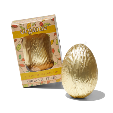 Organic Times Milk Couverture Chocolate Easter Egg 130g