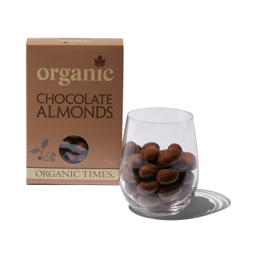 Organic Times Milk Chocolate Almonds 150g