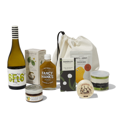 Send Hip Hip Hooray | Pinot Gris and Savoury Snacks for Cheese Gift Hamper