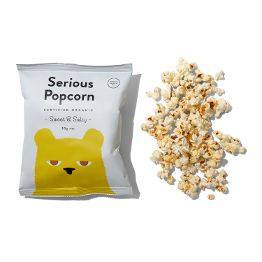 Serious Popcorn Sweet & Salty 20g by the Serios Co