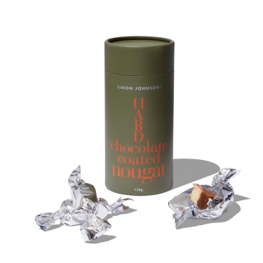 Simon Johnson Hard Chocolate Coated Nougat 110g