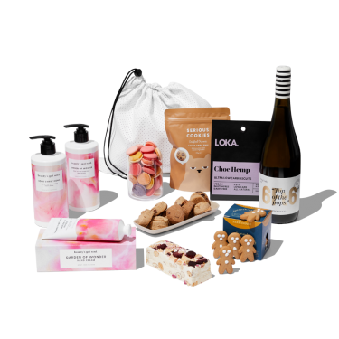 Sparkly and Bubbly Christmas Hamper by beauty's got soul.