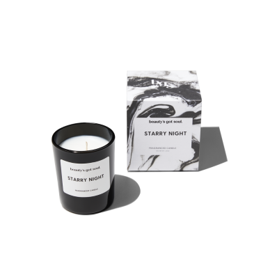 Starry Night Mini Candle 70g fragranced with Pomegranate and Cassis
