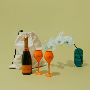 Veuve Clicquot and Veuve Goblets